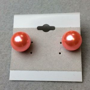 Jewelry - New X-Large Pink Stud Earrings